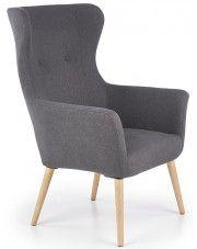 Fotel tapicerowany Devan - ciemny popiel