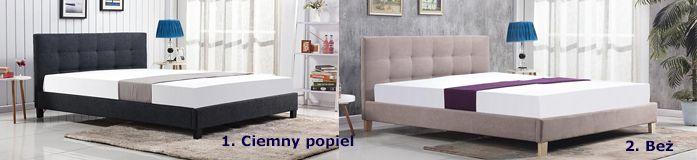 Stylowe łóżko Bono - pikowane