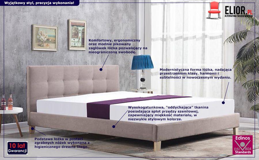 Stylowe łóżko Bono - beżowe