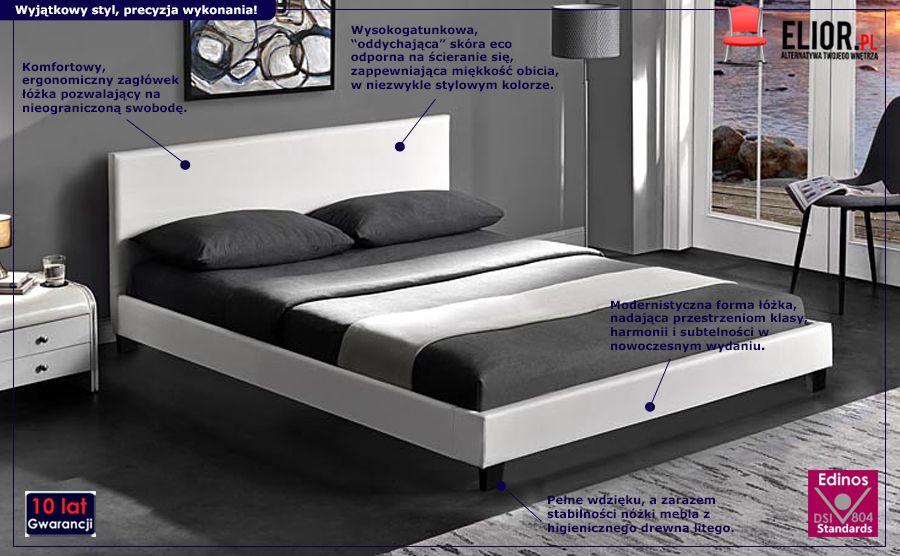 Komfortowe łóżko Anabi - białe