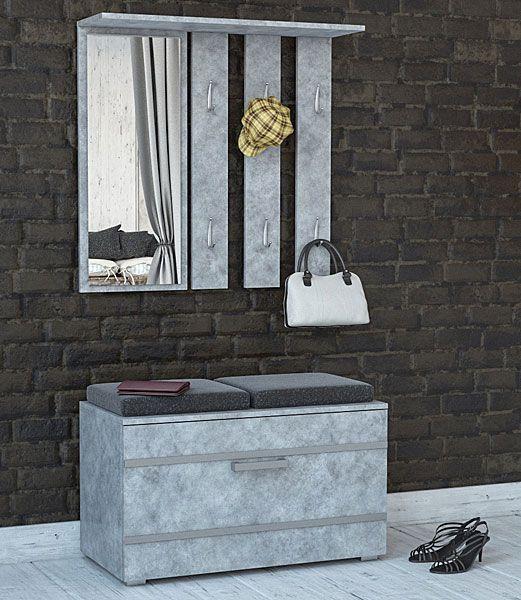 Garderoba do przedpokoju, loftu beton Malea