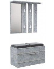 Garderoba z wieszakiem Malea - beton w sklepie Edinos.pl