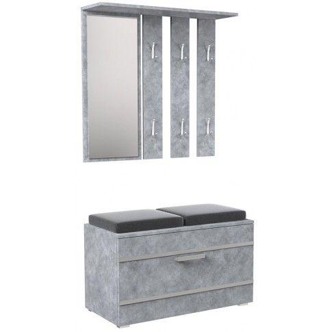 Zdjęcie produktu Garderoba z wieszakiem Malea - beton.