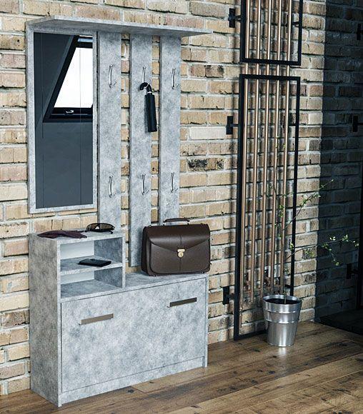 Garderoba do przedpokoju z wieszakiem beton Salma