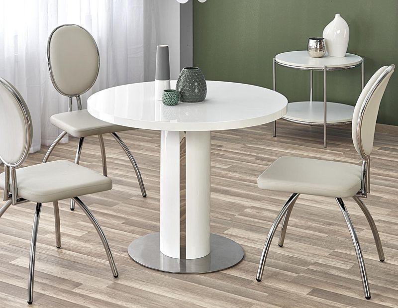 Chwalebne Okrągły stół Ofeo biały do salonu - sklep Edinos.pl OO36