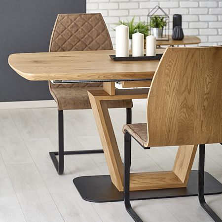 Duży stół Toreo - dąb złoty i czarny