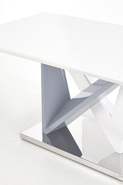 Modny stół Abel - biało popielaty
