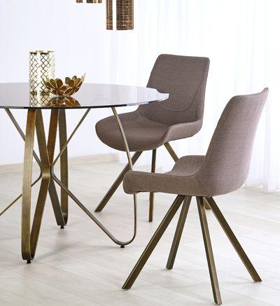 Stylowy stół Alesi - złoto brązowy