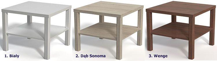 Kwadratowy stolik kawowy 60x60 cm Nolia