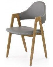 Krzesło Ebris - popielate w sklepie Edinos.pl