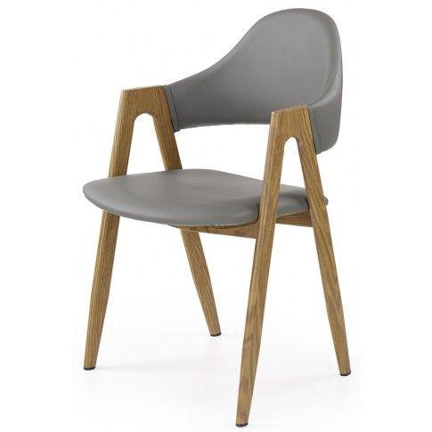 Zdjęcie produktu Krzesło z podłokietnikami Ebris - popielate.