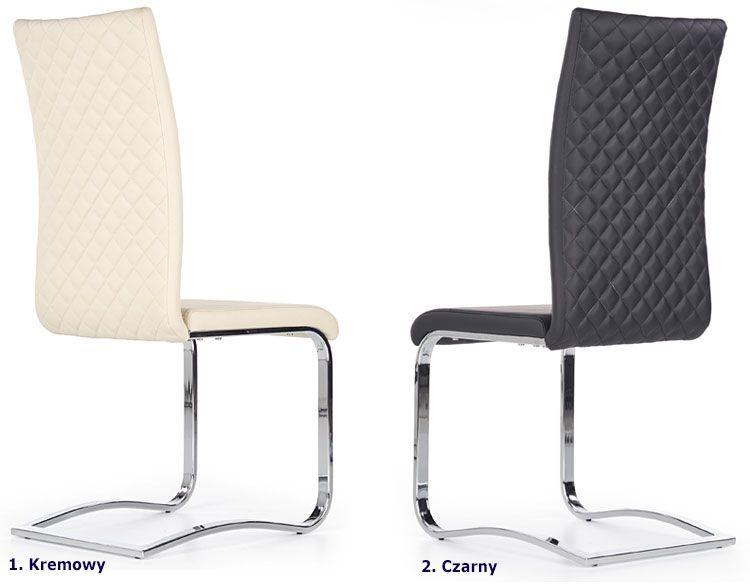 Pikowane krzesło kuchenne tapicerowane Norter