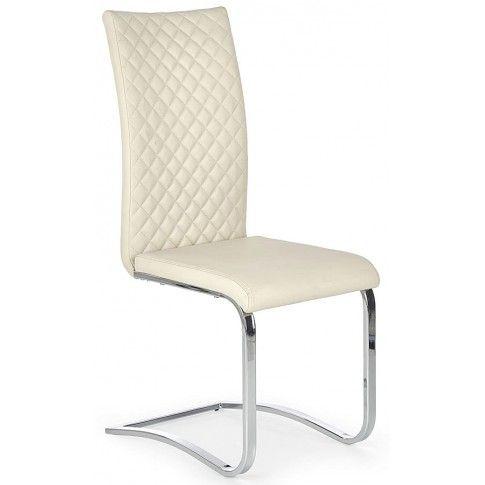 Zdjęcie produktu Krzesło pikowane Norter - kremowe.