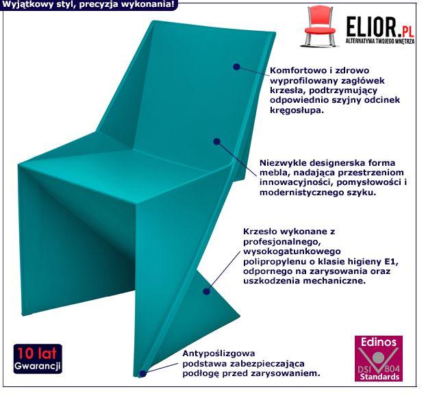 Designerskie krzesło Desiro - niebieskie