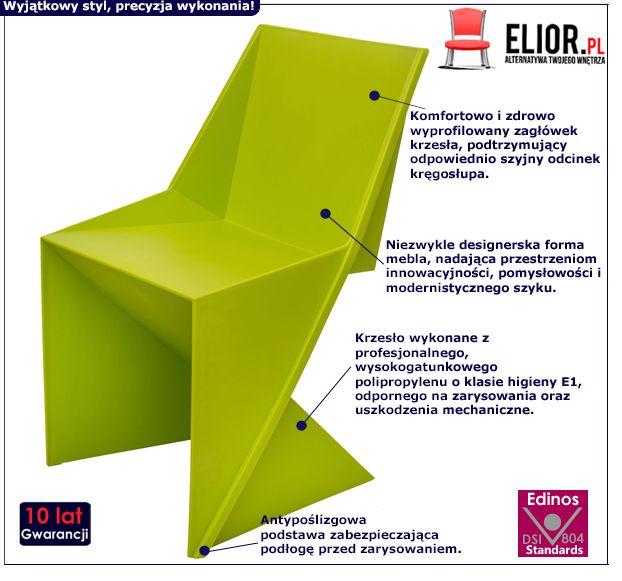 Nowoczesne krzesło Desiro - zielone