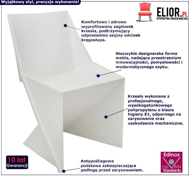 Stylowe krzesło Desiro - białe