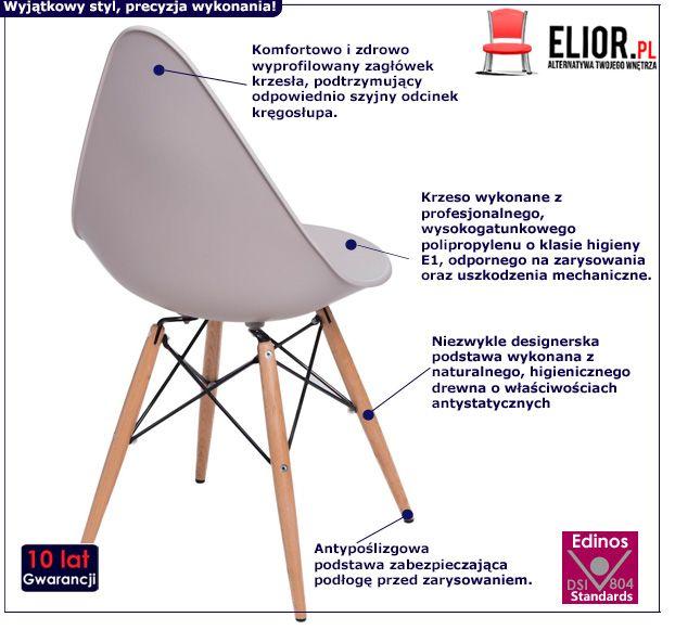 Stylowe krzesło Todi - beżowe