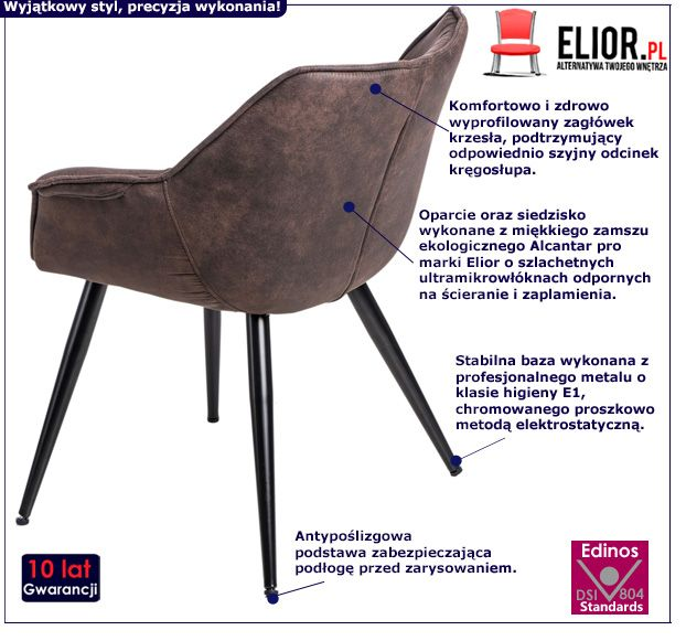 Vintage fotel Migusto - brązowy