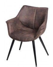 Fotel Migusto - brązowy