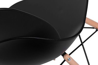 Stylowe krzesło Effi - czarne i drewniane