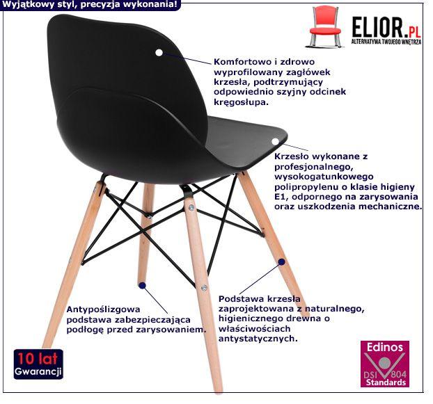 Designerskie krzesło Effi - czarne