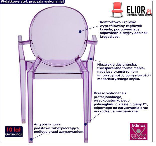 Krzesło dziecięce Dizzy 2X - przezroczyste