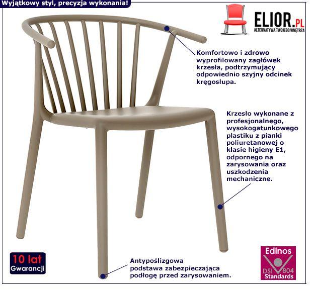 Vintage krzesło Peppe - piaskowe