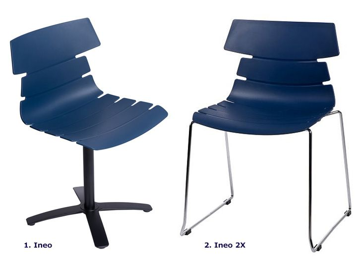 Nowoczesne krzesła Ineo - niebieskie