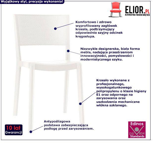 Skandynawskie krzesło Vildo - białe