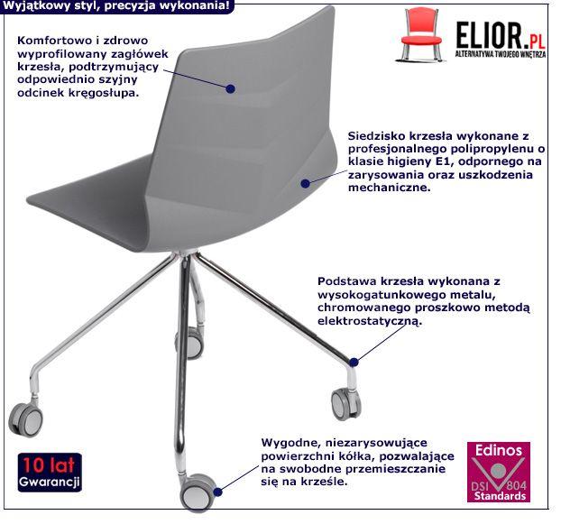 Funkcjonalne krzesło Tekto 3X - szare