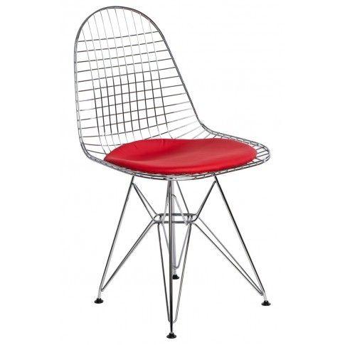 Zdjęcie produktu Industrialne ażurowe krzesło Hagio - srebrne.
