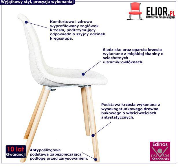 Skandynawskie krzesło Timot - białe