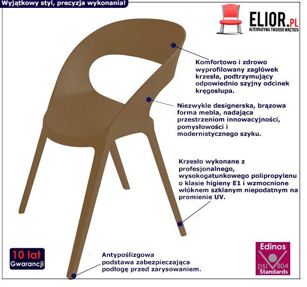 Nietypowe krzesło Arte - brązowe