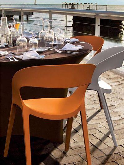 Stylowe krzesło Arte - brązowe