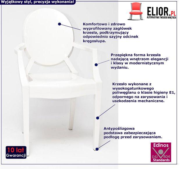 Stylowe krzesło Andre - białe