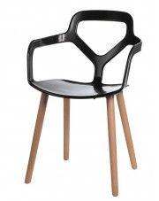 Krzesło Poppo - czarne w sklepie Edinos.pl