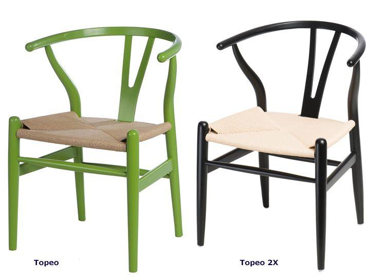 Modernistyczne krzesła Topeo - drewniane