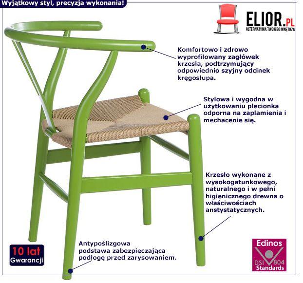 Nowoczesne krzesło Topeo - zielone