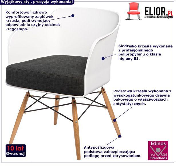 Nowoczesne krzesło Simmi - białe