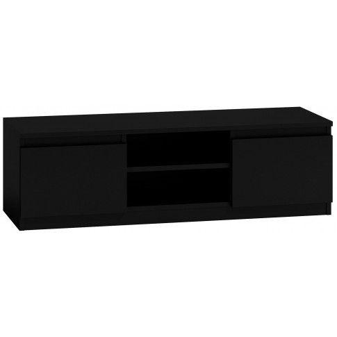 Zdjęcie produktu Szafka RTV Verta 3X 140 cm - czarna.