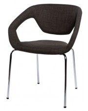 Krzesło Dakoto 2X - brązowe w sklepie Edinos.pl