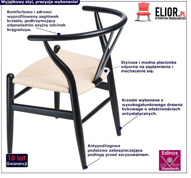 Modernistyczne krzesło Topeo 2X - czarne