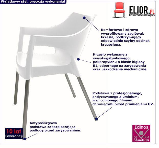 Skandynawskie krzesło Alen - białe