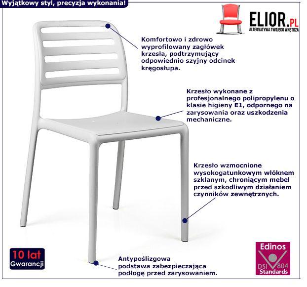 Minimalistyczne krzesło Lendo - na taras
