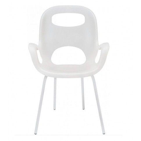 Zdjęcie produktu Minimalistyczne krzesło Giano - białe.
