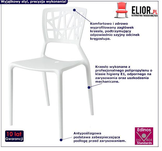 Krzesło Timmi - białe