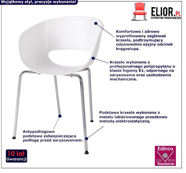 Modne krzesło Malto - białe
