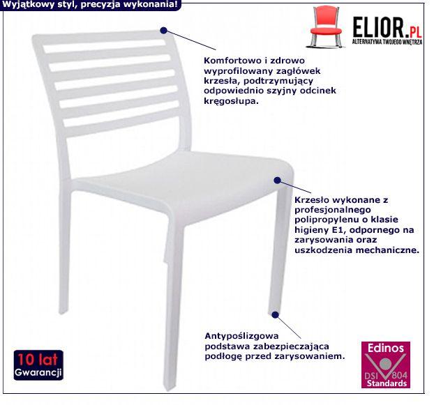 Nowoczesne krzesło Palio - białe