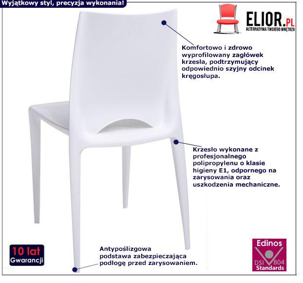 Skandynawskie krzesło Malio - białe