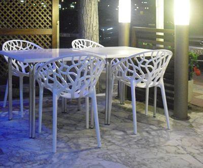 Stylowe krzesło Giato - białe